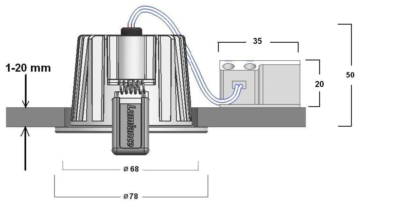 Line Art Solutions Ltd : Instar eco kit led fixe sundim sylvania lighting solutions